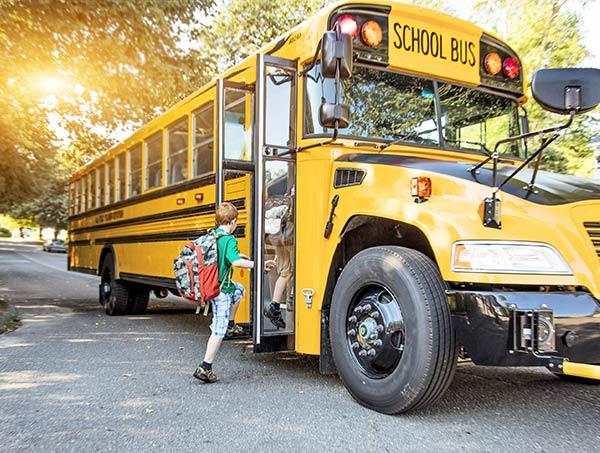 Lichaam als schoolbus